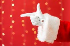 Santa com apontar o gesto fotos de stock royalty free