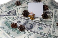 Santa com cones Imagem de Stock