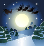 Santa com deers Fotografia de Stock
