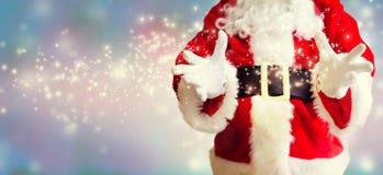 Santa com guardar o gesto fotos de stock