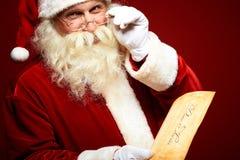 Santa com letra Fotos de Stock Royalty Free