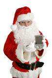 Santa com mensagem Fotos de Stock