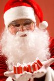 Santa com presentes Imagem de Stock Royalty Free