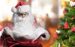 Santa com presentes imagem de stock royalty free