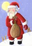 Santa com saco Foto de Stock