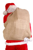 Santa com saco grande Fotos de Stock Royalty Free