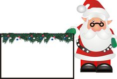 Santa com signage Fotografia de Stock