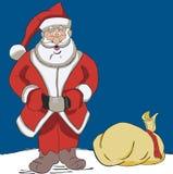 Santa com um saco ilustração do vetor