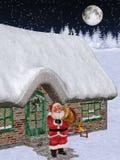Santa Is Coming 2. 3d render of Santa is coming 2 Royalty Free Stock Photo