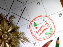 Santa is Coming Stock Photo