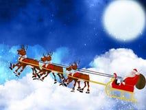 Santa coming Stock Photography