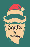 Santa is coming. Poster template Royalty Free Stock Images