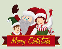 Santa and Company Salute, Vector Illustration Stock Photography
