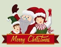 Santa and Company Salute, Vector Illustration stock photography