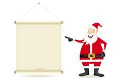 Santa con el bobinador de cintas en modo continuo Foto de archivo libre de regalías