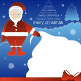 Santa con el bolso del regalo Foto de archivo libre de regalías