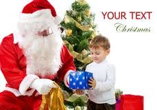 Santa con el cabrito Imagen de archivo libre de regalías