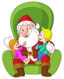 Santa con i bambini Fotografie Stock Libere da Diritti