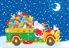 Santa con i regali di natale Fotografia Stock