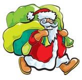 Santa con i sacchetti Fotografia Stock