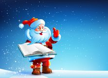 Santa con il libro Fotografia Stock Libera da Diritti
