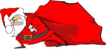 Santa con il sacchetto Fotografia Stock Libera da Diritti