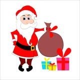 Santa con il sacco Fotografie Stock