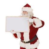 Santa con il segno in bianco fotografia stock libera da diritti