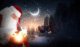 Tema di Natale con Santa immagine stock