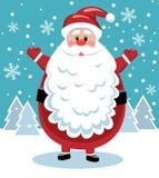 Santa con la barba grande Fotografía de archivo