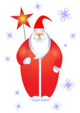 Santa con la estrella. Fotos de archivo