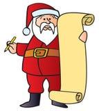 Santa con la lista Imágenes de archivo libres de regalías