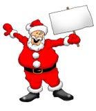 Santa con la muestra Fotos de archivo