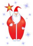 Santa con la stella. Fotografie Stock