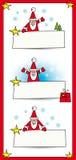 Santa con le bandiere Fotografia Stock Libera da Diritti