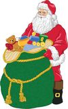 Santa con los juguetes. Foto de archivo libre de regalías
