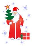 Santa con los regalos. Imágenes de archivo libres de regalías