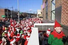 Santa Con in New York Stock Image