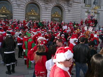 Santa Con San Francisco 2011. Several hundred Santas descend on San Francisco for SantaCon Royalty Free Stock Image