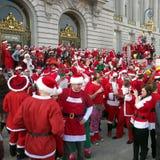 Santa Con San Francisco 2011. Several hundred Santas descend on San Francisco for SantaCon Stock Photos