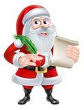 Santa con su lista Imagenes de archivo