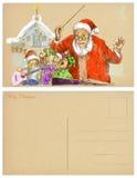 Santa conductor Stock Image