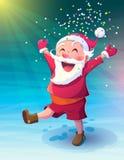 Santa with confetti Stock Photo