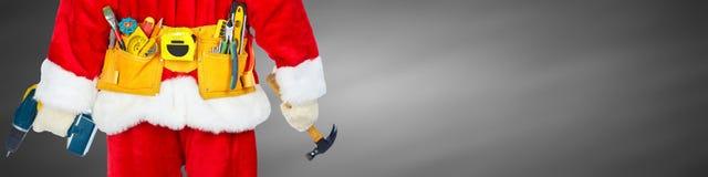 Santa with construction tools Stock Photography