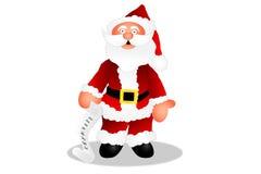 Santa contrôlant sa liste Photos libres de droits