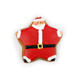 Santa Cookie. On white background Royalty Free Stock Photography
