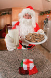 Santa with cookies and milk Stock Image