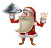 Santa Cooking Christmas Food Fotografía de archivo libre de regalías