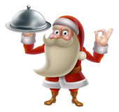 Santa Cooking Christmas Food Royalty Free Stock Photography