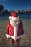Santa cooling down Stock Photo